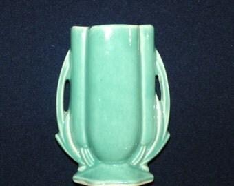 McCoy Aqua Fern 5 5/8 Inch Vase