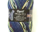 Opal sock yarn, HUNDERTWASSER , 4 Ply , 100g, 425 m, merino and nylon, superwash