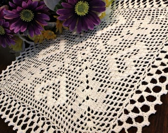 Crochet Four heart doily