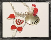 Valentine's Day Jewelry - Hand Stamped VALENTINE SWEETS - Valentine's Day Necklace V10