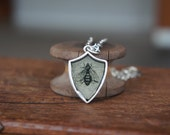 Shield Crest Pendant Necklace with Mystical Mythical Images