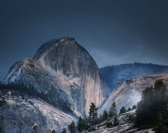 Half Dome in a Summer Storm - Fine Art Print