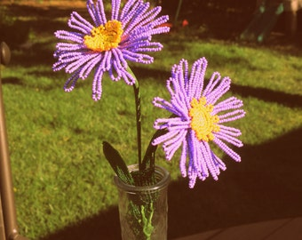 Aster - French Beaded Flowers