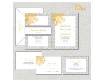 gold wedding invitation set ornate invitations elegant royal wedding invitations silver and - Royal Wedding Invitation