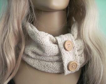 Oatmeal,  Creme Loop,  Circle Scarf ,Womens Fall Winter Fashion Accessory