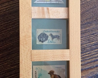 Set of 3 vintage stamps depicting Dachshund dogs