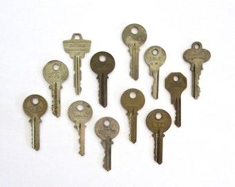 12 keys Key collection Vintage stamping keys Antique keys Stamping keys House keys Old keys for stamping Blank keys Blank side A1 #10