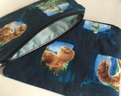 Zipper Bag Set / Essential Oil Bag / Make Up Bag - Dinosaur