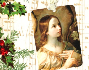 Christmas Tags,  Angel Tag, Gift Tags, Vintage Style, Angel Gift Tags,