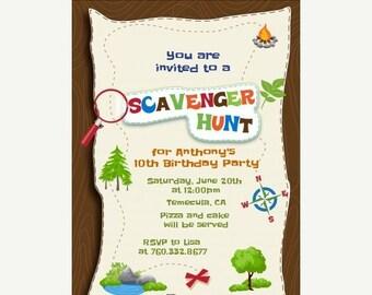 On Sale Scavenger Hunt - Printable Birthday Party Invitations