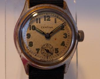Certina Very Rare USA Dial Serviced Swiss Military Wristwatch