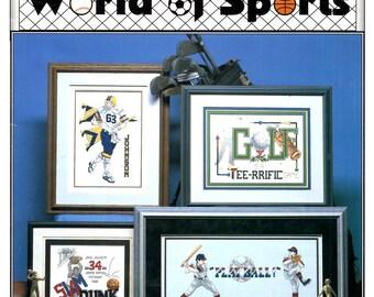 World of Sports Football Basketball Baseball Golf Hockey Soccer Tennis Counted Cross Stitch Embroidery Craft Pattern Leaflet 144