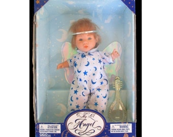 MY LIL ANGEL Doll * GiGo Toy * Angel Doll With Stringed Instrument * Vintage Doll
