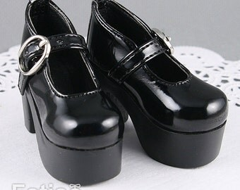 Fatiao - New 1/4 BJD Dollfie MSD High Heeled Shoes - Black (Size 5.5cm)