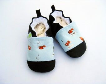 Classic Vegan Fish Out of Bags / Non-Slip Soft Sole Baby Shoes / Made to Order / Babies Toddler Preschool