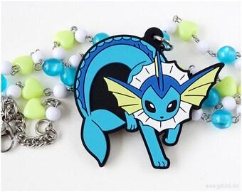 Vaporeon Necklace, Pokemon Necklace, Pokemon Jewelry, Gamer Jewelry, Gamer Gifts, Gamer Girl, Eevee