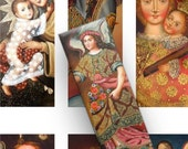 INSTANT DOWNLOAD Digital Collage Sheet Vintage Religious Angels  1 x 3 Inch Slides for Pendants Magnets Crafts