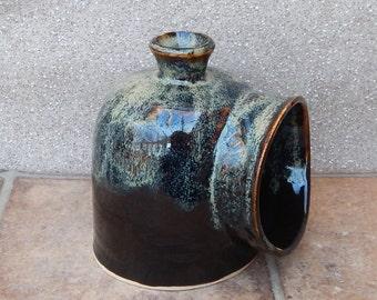Salt pig or cellar hand thrown stoneware pottery