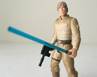Luke Skywalker Vintage Star Wars Figure in Bespin Outift with Removable Hand, Lightsaber, Blaster - 1990's Star Wars Toy Empire Strikes Back