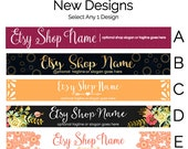 Etsy Banners - Etsy Store Graphics - New Etsy Shop Banner Designs Selection 4 - Etsy Shop Supplies