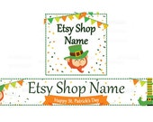 Etsy Banners - Etsy Shop Banners - St Patricks Day Etsy Banners - Saint Patrick's Day Etsy 2  - 2 Piece Set