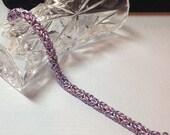 Chainmaille Bracelet - Byzantine- Lavender