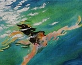 Through the Water - original daily painting by Kellie Marian Hill