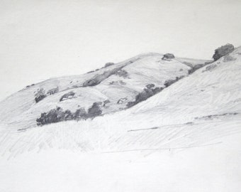 Mt. Diablo Hillside - original drawing  (LD 112)