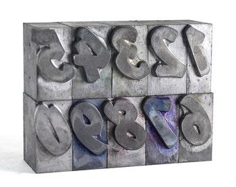 NUMBERS - 72pt Metal Letterpress - Flash Bold