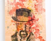 Walter White Breaking Bad Art Print from Original Watercolor Painting on Wood Wall Art Breaking Bad Print On Wood Breaking Bad Gift