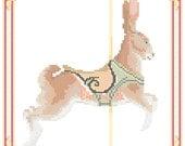 Carousel Rabbit , Dentzel, Glenn Echo Park, MD Cross Stitch Pattern PDF