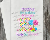 12 Pak Candyland 15th Age 15 / BIRTHDAY Candy Buffet Party Favor Bags / PERSONALIZE / Thanks for Making My Party So Sweet / 3 Day Ship