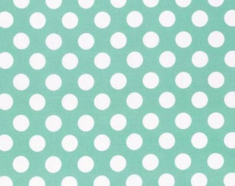 Sadie's Dance Card Big Dot on Jade PWTW128-JADE Cotton Fabric by Tanya Whelan FreeSpirit