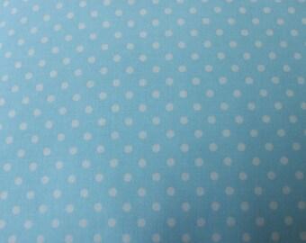 Camelot Cotton Dot on Blue Cotton Fabric 6140106-07 Stitched Garden