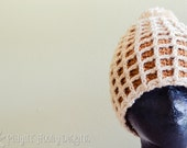 Plaid(ish) Little Waffle Beanie - Adults - Ready to Ship