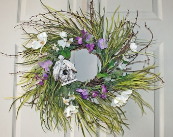 Tropical Wreath, Beach House Decor, Beach House Wreath, Greenery Wreath, Twig Wreath, Summer Wreath, Hawaiian Decor, Beach Wreath, Tiki Hut