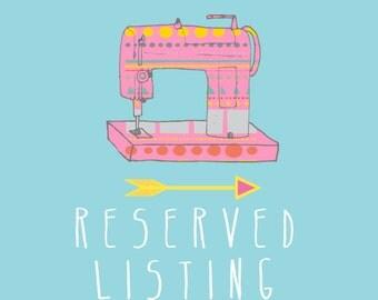 RESERVED listing especially for Rosine E