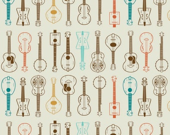 Blend Fabrics - Folk Melody Collection - String Band in Natural