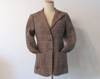 Vintage Wool Blazer by Norman Todd of California, Preppy 1970s