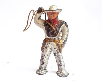 Vintage Cowboy, Lead Cowboy Figure, Barclay Manoil Cowboy, Toy Cowboy, Cowhand Toy, Rodeo Gift, Cowboy Collectible