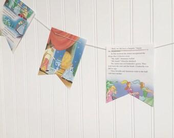 cinderella book party decoration banner garland