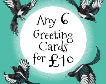Choose any 6 Greeting Cards for 10 Pounds Offer
