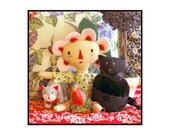 Fiona and Friends, wall hanging, fine art, bird art, colorful cottage, floral imagine, joyful, journey