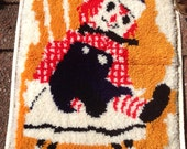 Vintage Raggedy Andy Latch Hook Completed