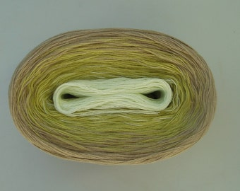 KEY LIME PIE  Color Changing Cotton yarn  480 yards/100 gr  Fingering Weight