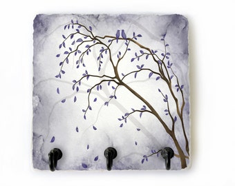 Purple Key Hook, Tree Key Rack, Light Purple Key Hanger, Tree Key Holder for Wall, Tree Wall Hooks, Jewelry Hooks, Purple Wall Decor (68)