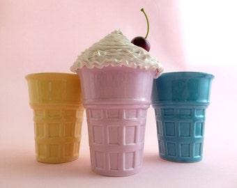 ICE CREAM CONE Box, Ice Cream Box, Candy Box, Trinket box, Birthday Party Decoration, Girls Room Decoration, Kitchen Decoration, Cupcake Box