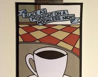 Black as midnight on a moonless night (Twin Peaks)- Original papercut