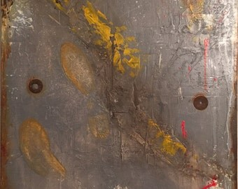 Urban Decay Industrial Abstract Textured Art Large