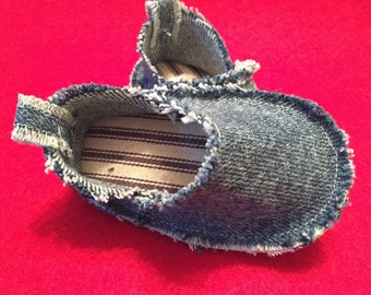 Denim scruffy shoe Ready to Ship!!